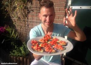 Aubergine met tomaat