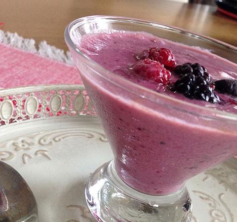 Sweet pink smoothie