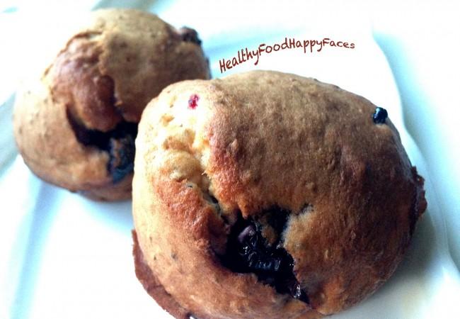 Muffins met blozende bosvruchten