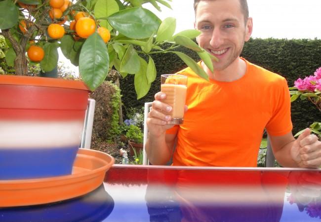 Oranje smoothie voor Koningsdag
