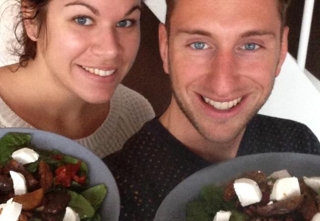 Vijgen en noten salade van HappyFace- Lianne