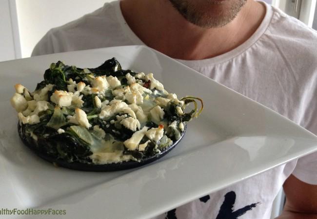 Loeiwarme spinazietaart