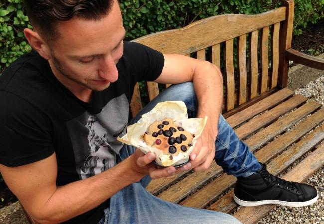 Bosbessen taart maken met 5 ingrediënten