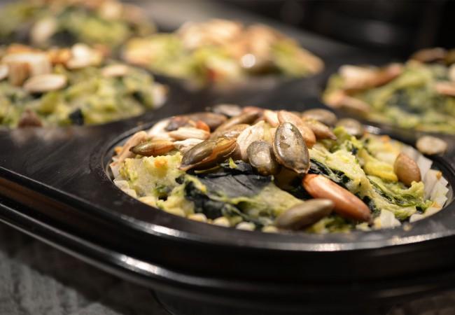 Muffins van spinazie en ricotta