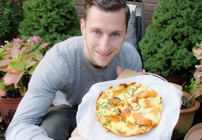Omelet met zoete aardappel