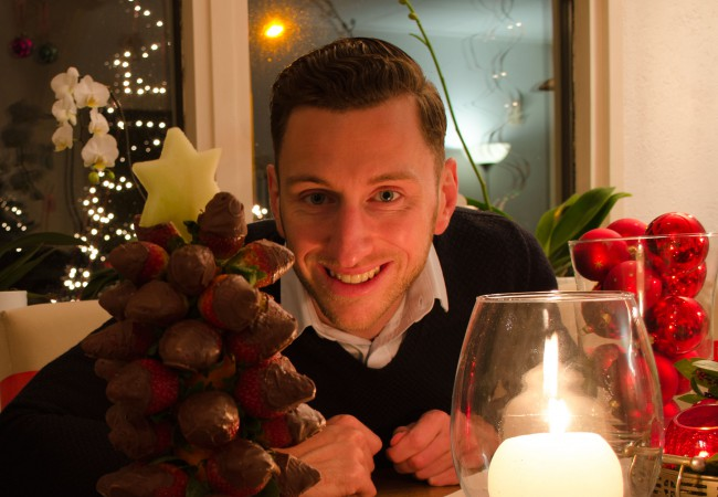 Kerstboom vol fruitjes