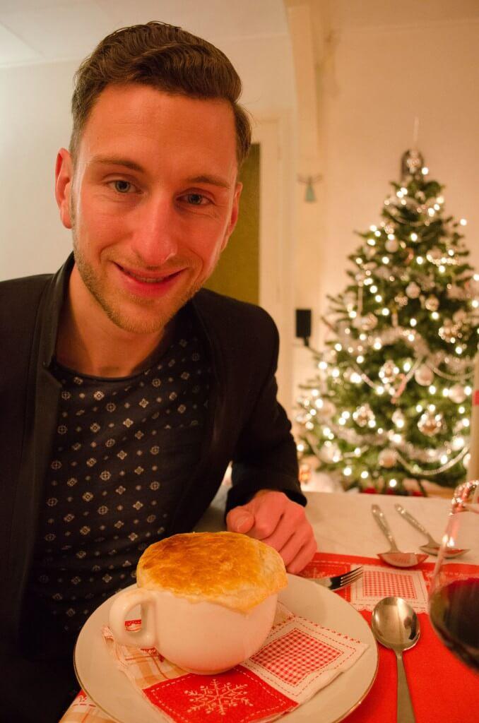 kerst, voorgerecht, paddenstoel