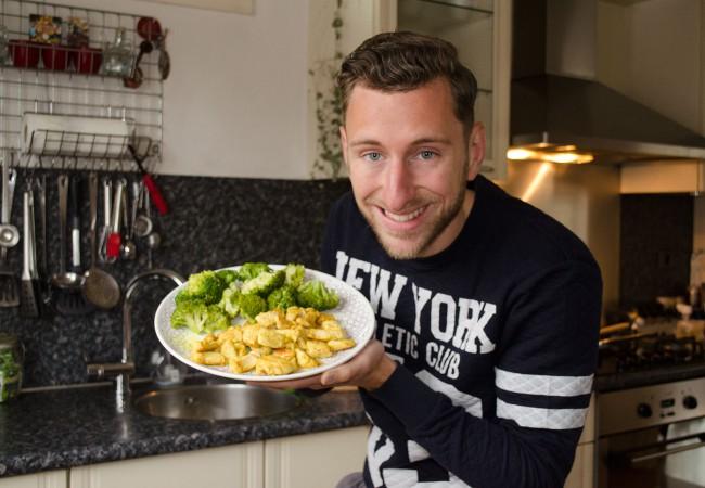 Curry kip met groentjes