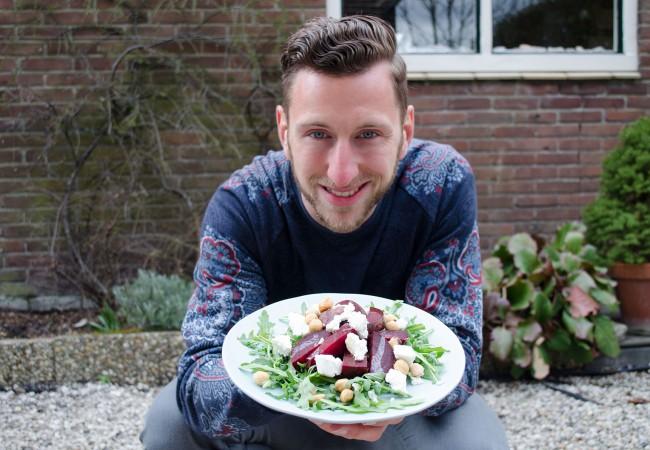 Salade met geitenkaas en bietjes