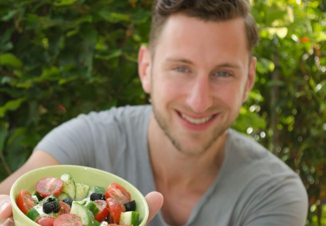 Griekse salade met tijm