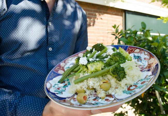 Voedzame lunch: couscous met groente