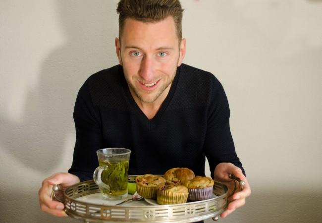 Muffins met avocado