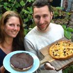 taart bakken zonder suiker, appeltaart, chocolade, suikervrij, purefoodie