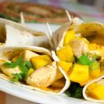wraps met kip en mango, avondeten, diner, maaltijd, gezond eten