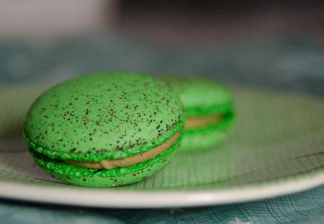Tussendoortje: macaron van groene thee