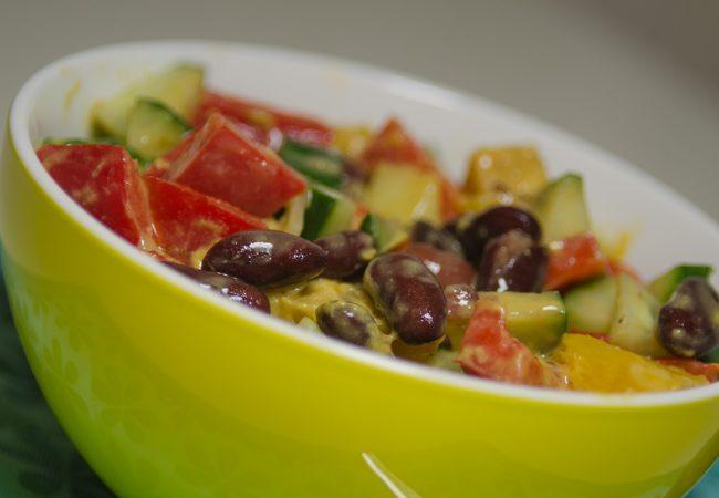 Salade maken met kleur (en smaak)