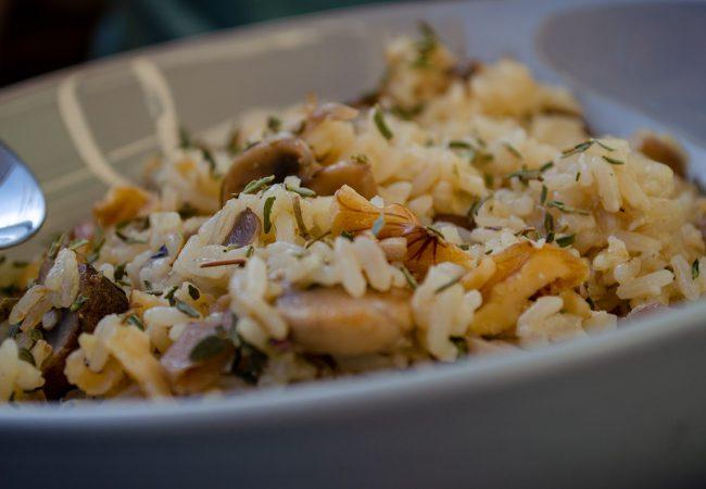 Risotto recept met paddenstoelen