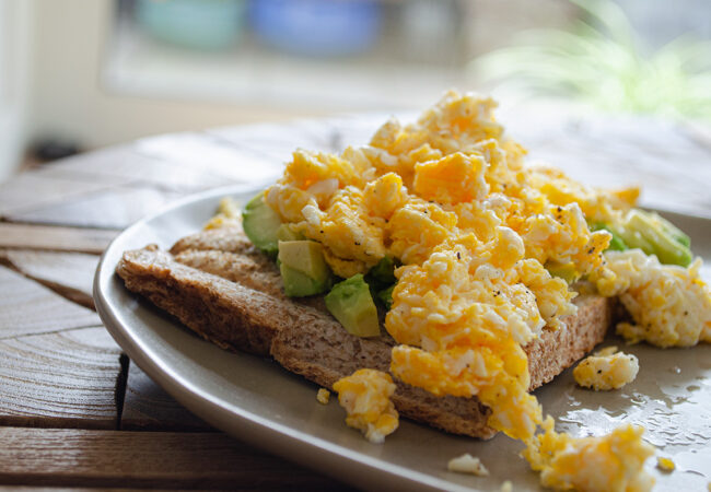 Brood met gebakken ei